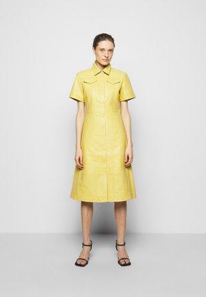DRESS - Shirt dress - citron