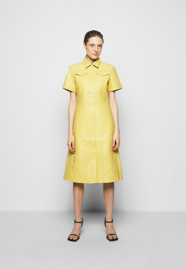 DRESS - Shirt dress - citron
