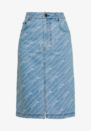 MONOGRAM SKIRT - Jupe crayon - light blue
