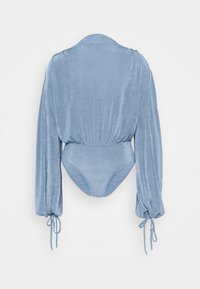 Missguided - MODESTY ACETATE VOLUME SLEEVE  - Long sleeved top - blue - 6
