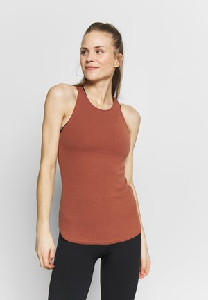 W NK YOGA LUXE RIB TANK - Top - red bark/terra blush