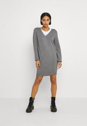 NMSHIP DRESS - Jumper dress - mottled grey