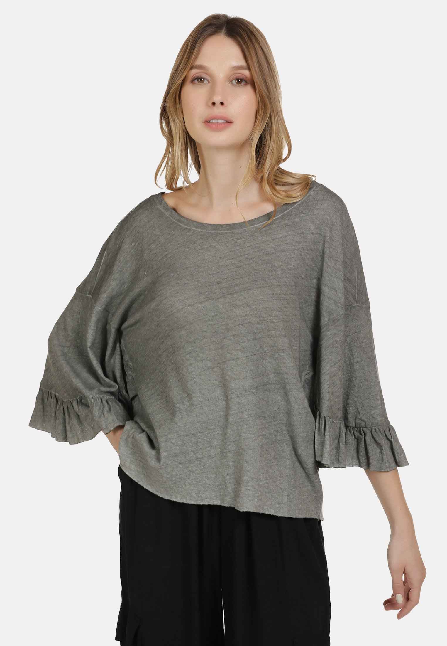2020 New Women's Clothing DreiMaster BLUSE Blouse dunkelgrau QoBXy9c9P