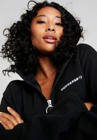 Converse - HOOD DRESS ZIP-PULLER - Shirt dress - black - 3