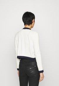 Liu Jo Jeans - MAGLIA APERTA INTARSIO - Cardigan - off-white - 2