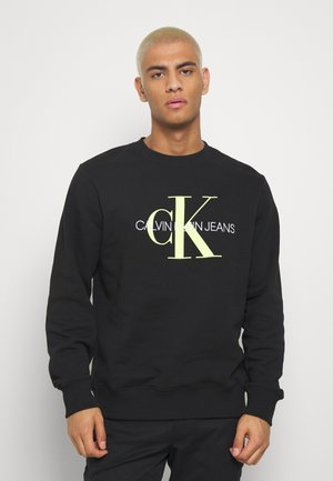 MONOGRAM CREW NECK - Bluza - black