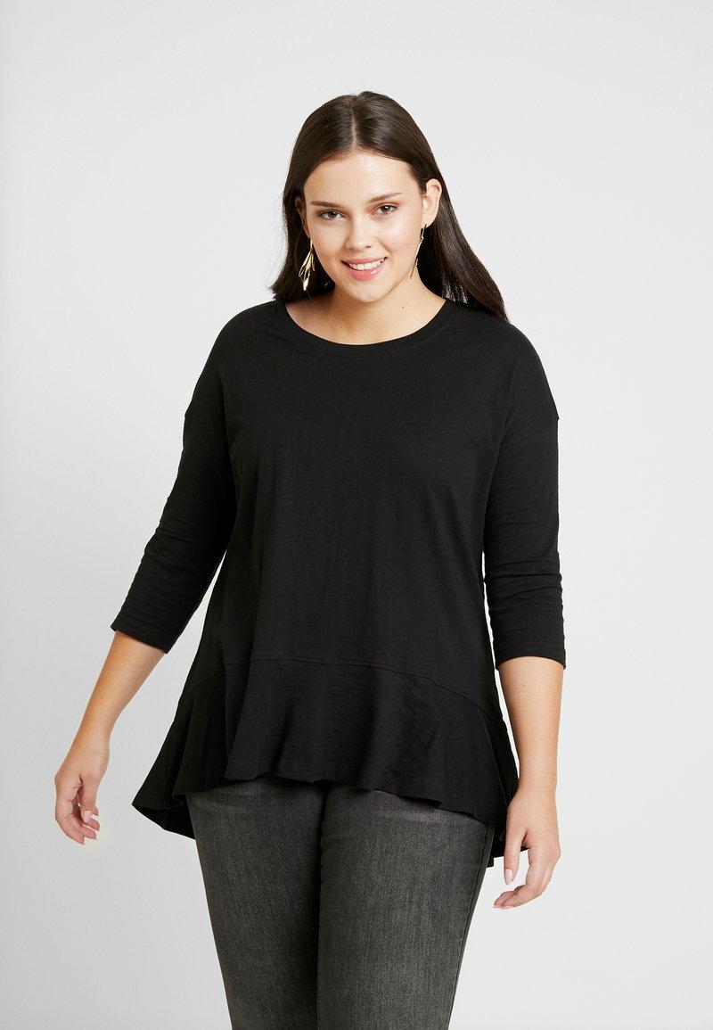 Simply Be - FRILL HEM 3/4 SLEEVE - T-shirts print - black