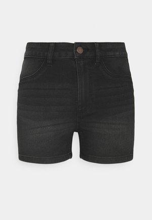 JDYTULGA LIFE HIGH MINI - Denim shorts - black