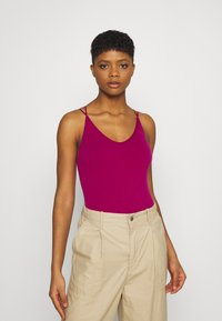 BDG Urban Outfitters - STRAPPY BACK THONG BODYSUIT - Top - raspberry - 0