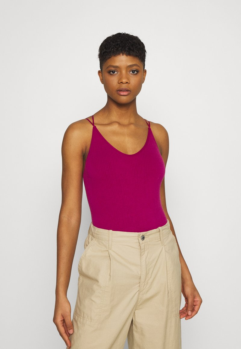 BDG Urban Outfitters - STRAPPY BACK THONG BODYSUIT - Top - raspberry