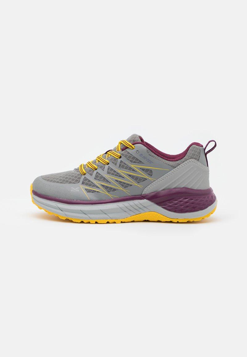 Hi-Tec - TRAIL DESTROYER WOMENS - Hiking shoes - steel/super lemon/grape wine