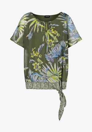 Blouse - botanical green gemustert