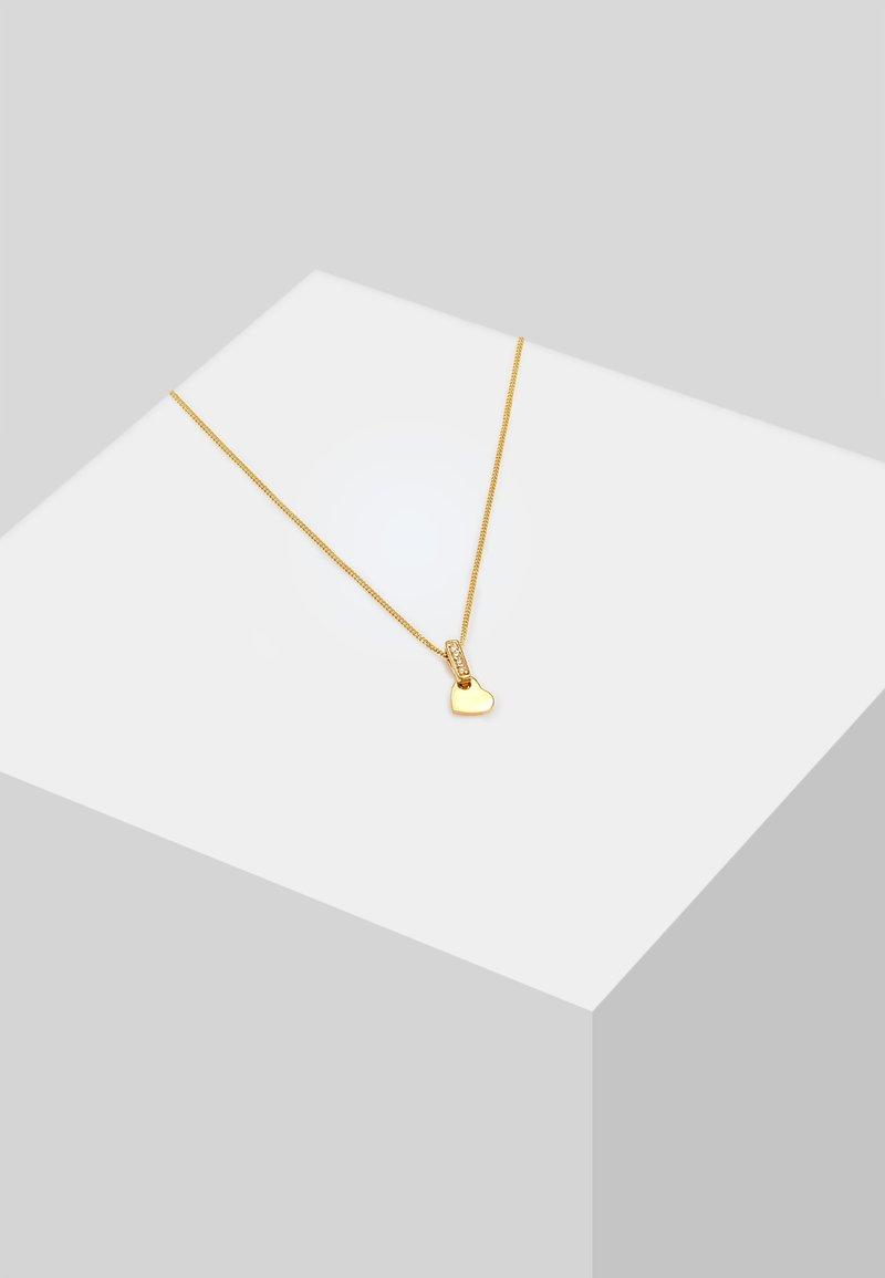 DIAMORE - HERZ BRILLANT - Necklace - gold-coloured