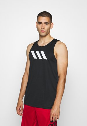 SPORT 3 STRIPES TANK - Sports shirt - black
