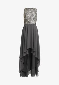Lace & Beads - HANKERCHIEF HIGH LOW DRESS - Robe de cocktail - charcoal - 6