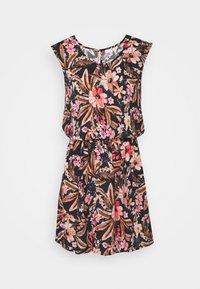 LASCANA - BEACH DRESS - Day dress - schwarz/apricot - 4