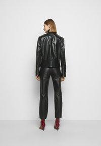 MM6 Maison Margiela - Kožená bunda - black - 2