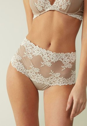 PRETTY FLOWERS - Underkläder - dust beige/ white cream