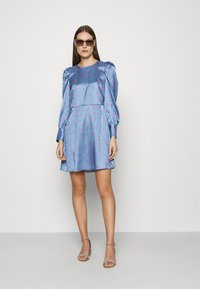 Closet - CLOSET PUFF SLEEVE MINI DRESS - Day dress - blue - 1