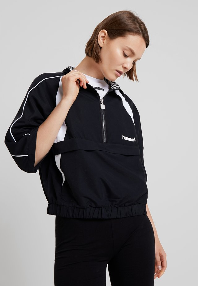 HALF ZIP - Vindjakke - black