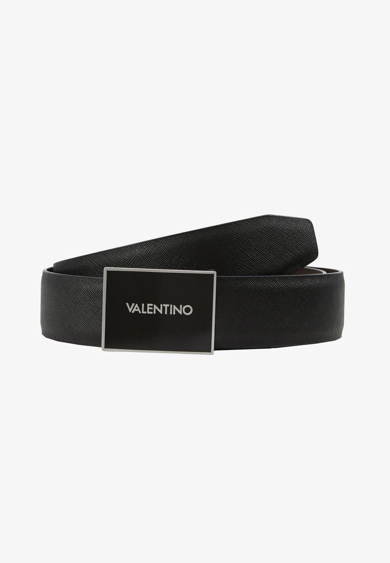 Valentino Bags - DEER LOGO REVERSIBLE BELT - Ceinture - nero/moro