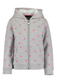 Blue Seven - BASICS - Zip-up sweatshirt - m01 - dk blau + nebel mel aop - 1