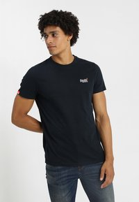 Superdry - ORANGE LABEL - T-shirt basique - eclipse navy - 0