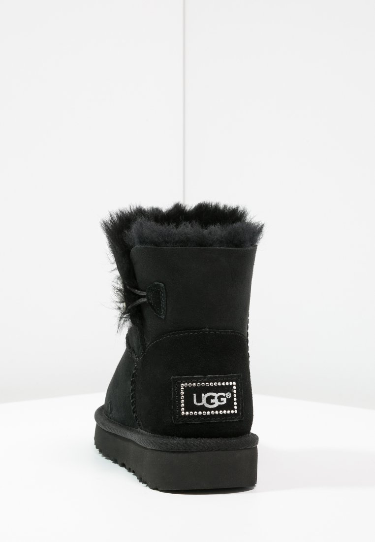 bottines ugg mini bailey button bling gris