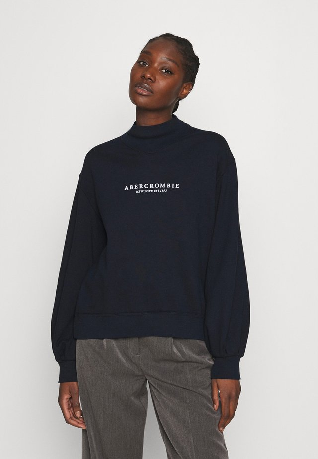SEASONAL LOGO MOCK NECK CREW  - Sweatshirt - navy