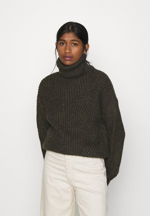 YASBRAVO ROLL NECK - Jumper - black olive