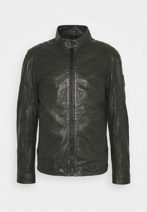 OSCO - Leather jacket - brushed nickel