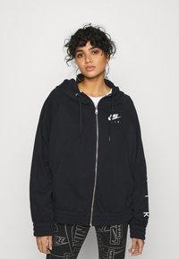 Nike Sportswear - AIR HOODIE PLUS - Zip-up hoodie - black - 0