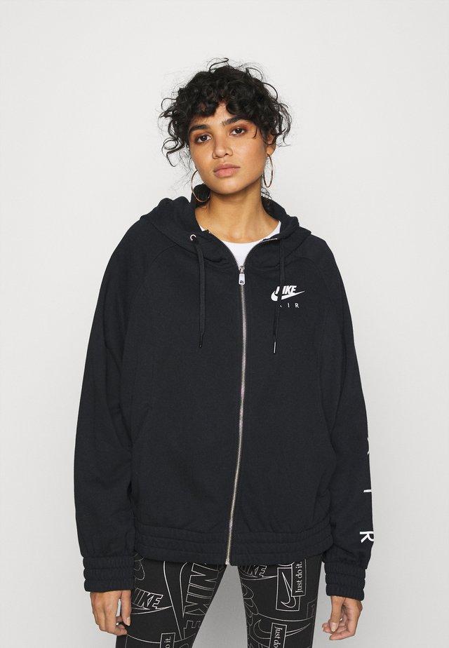 AIR HOODIE PLUS - Zip-up hoodie - black