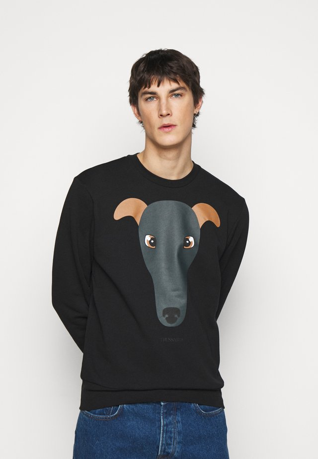 BRUSHED REGU - Sweater - black