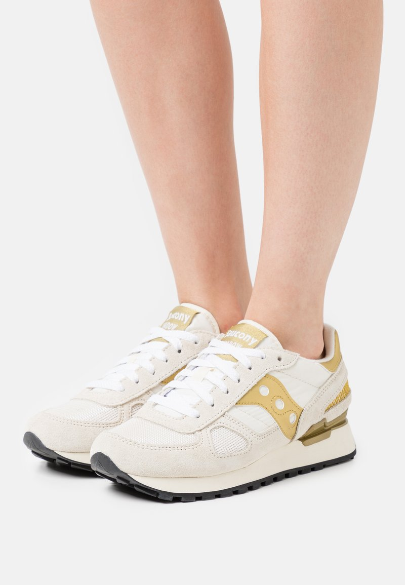 Saucony - SHADOW ORIGINAL - Trainers - white/gold