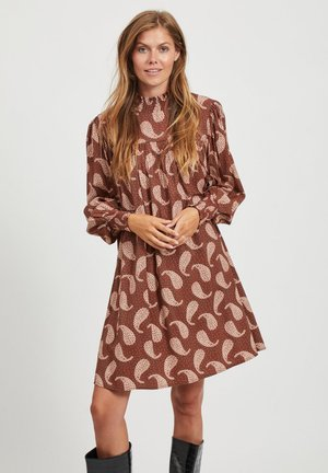 Day dress - tobacco brown