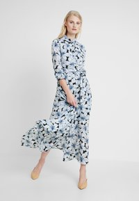 Banana Republic - SAVANNAH MAXI DRESS ETCHED FLORAL - Maxi dress - dark blue - 1