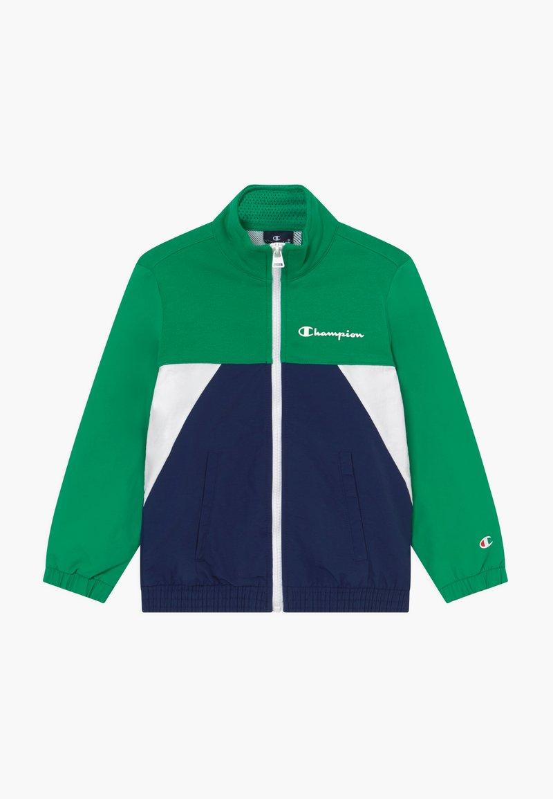 Champion - LEGACY 90'S BLOCK FULL ZIP  - Veste de survêtement - green/blue