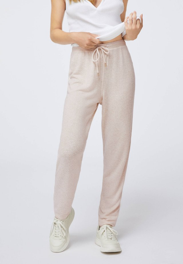 SOFT TOUCH  - Trousers - beige