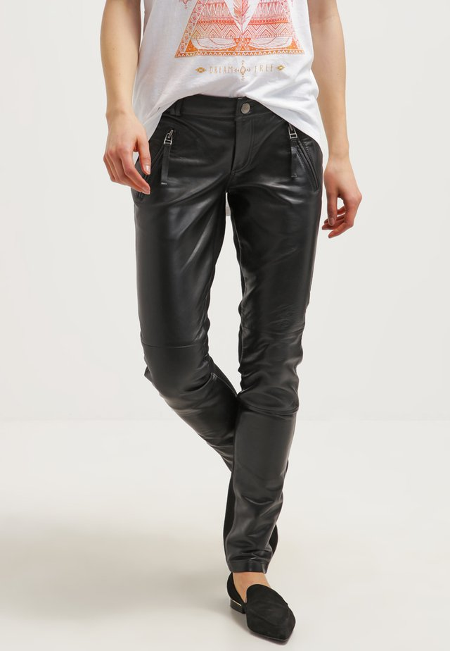 ADA - Leather trousers - black