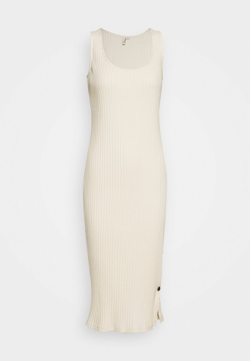 Nly by Nelly - SIDE BUTTON MIDI DRESS - Jerseyjurk - creme