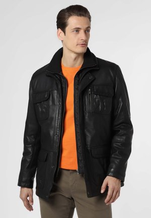 Leather jacket - schwarz