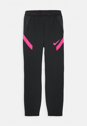 DRY STRIKE  - Tracksuit bottoms - black/hyper pink