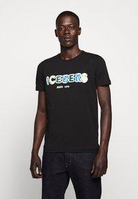 Iceberg - T-shirt con stampa - black - 0