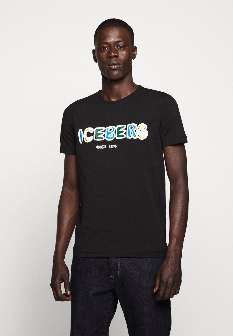 Iceberg - T-shirt con stampa - black