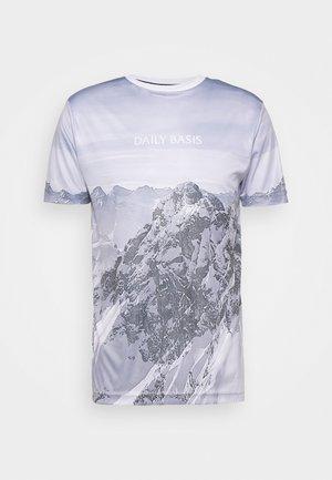 MOUNTAIN TEE UNISEX - T-shirt med print - grey