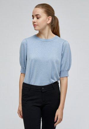 LIVA - Basic T-shirt - dusty blue melange