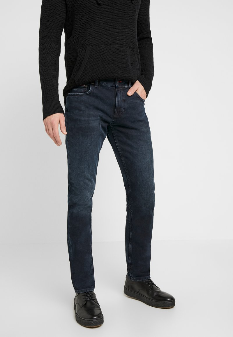 Tommy Hilfiger - STRAIGHT DENTON  BURKE  - Straight leg -farkut - dark-blue denim