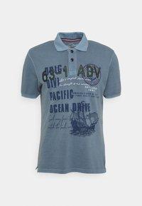 Key Largo - AGENCY - Polo shirt - flintstone blue - 4
