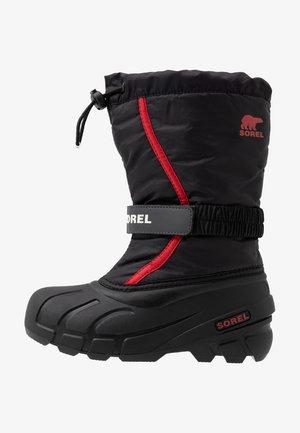 YOUTH FLURRY UNISEX - Zimní obuv - black/bright red